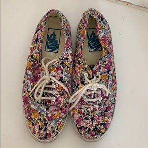 Floral vans sneakers